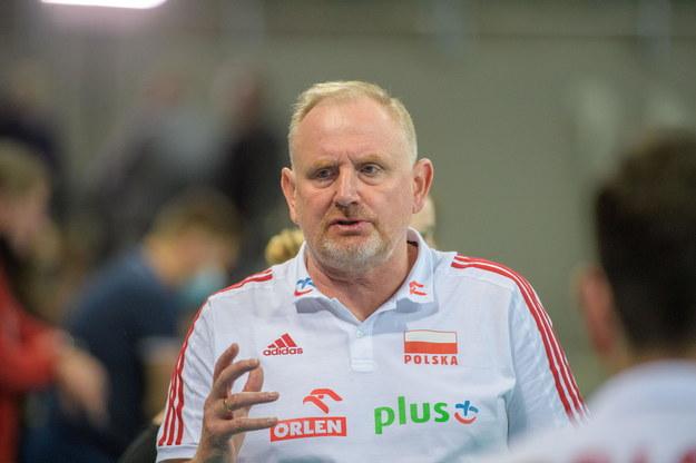 Trener polskich siatkarek Jacek Nawrocki /Grzegorz Michałowski /PAP