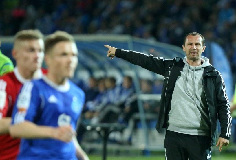 Trener Radoslav Latal (z prawej) /Fot. Grzegorz Celejewski /