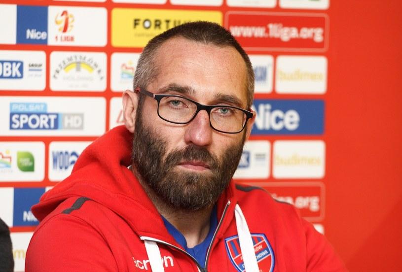 Trener Rakowa Marek Papszun /Artur Szczepanski/REPORTER /