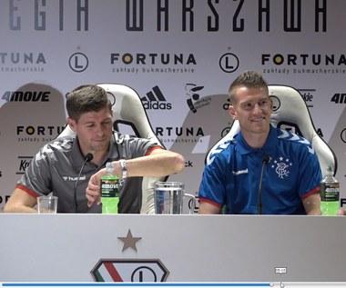 Trener Rangers Steven Gerrard wspomina grę w Polsce. Wideo