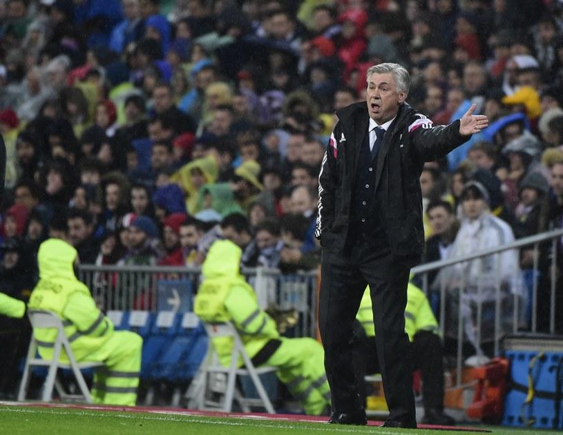Trener Realu Carlo Ancelotti podczas meczu z Atletico /AFP