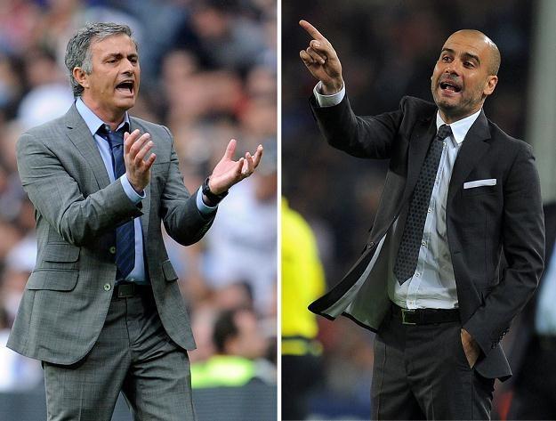 Trener Realu Madryt Jose Mourinho i szkoleniowiec Barcelony Pep Guardiola /AFP