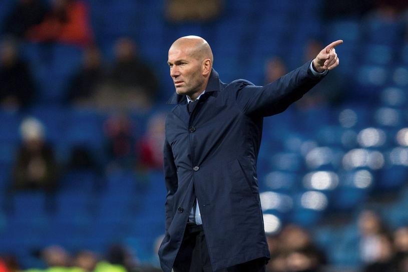 Trener Realu Madryt Zinedine Zidane /PAP/EPA