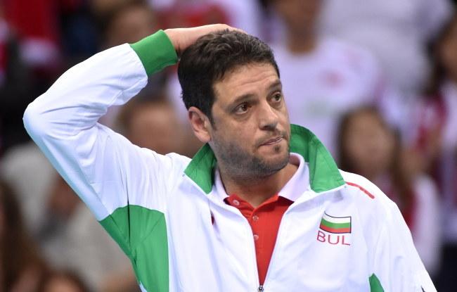 Trener reprezentacji Bułgarii Plamen Konstantinov /Jacek Bednarczyk /PAP