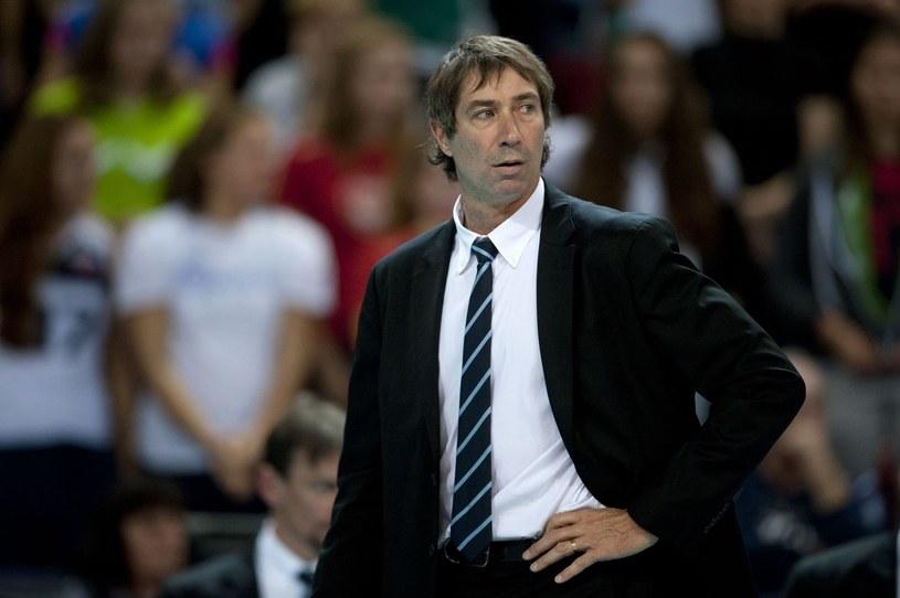 Trener reprezentacji Francji siatkarzy Laurent Tillie /AFP