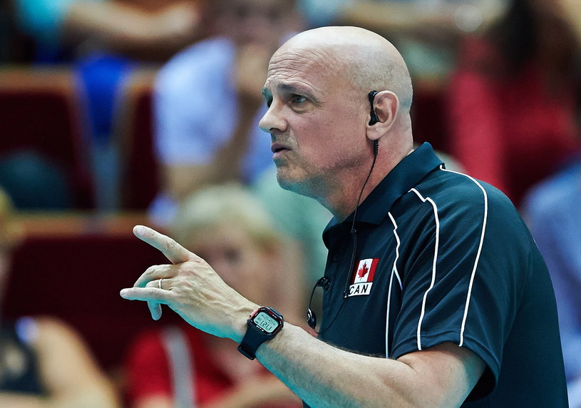 Trener reprezentacji Kanady Glenn Hoag /Adam Warżawa /PAP