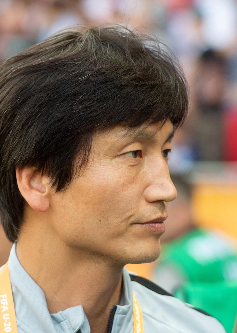 Trener reprezentacji Korei Płd. Chung Jungyong /Grzegorz Michałowski   /PAP