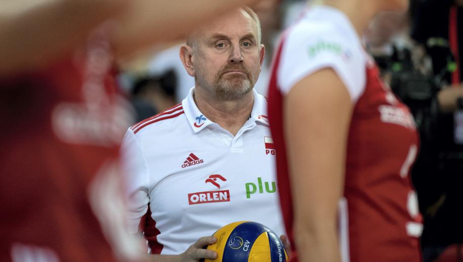 Trener reprezentacji Polski Jacek Nawrocki /Grzegorz Michałowski   /PAP