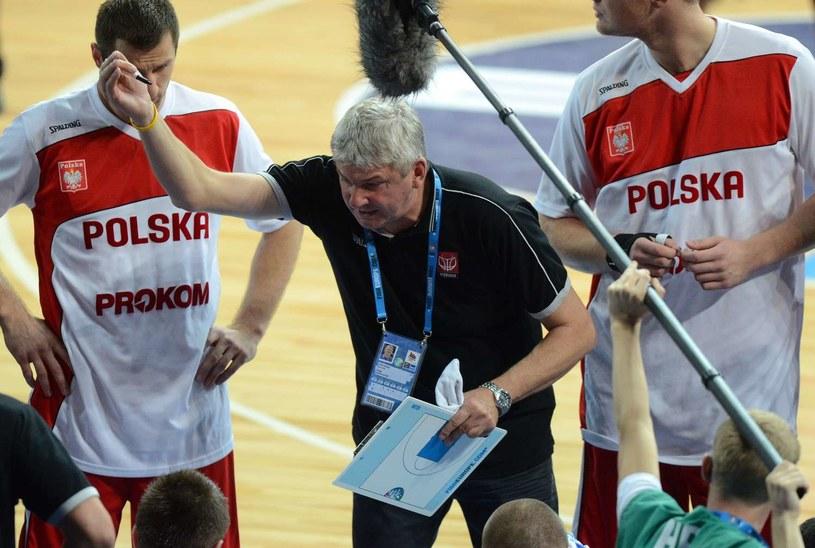 Trener reprezentacji Polski koszykarzy Ales Pipan /AFP