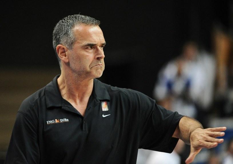 Trener reprezentacji Polski koszykarzy Dirk Bauermann /AFP