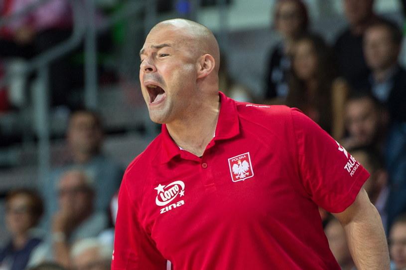 Trener reprezentacji Polski koszykarzy Mike Taylor /Fot. Maciej Kulczyński /PAP