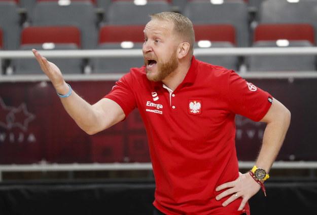 Trener reprezentacji Polski Maros Kovacik /TOMS KALNINS  /PAP/EPA