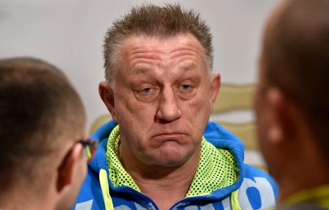 Trener reprezentacji Polski Michael Biegler i HSV Hamburg /Jacek Bednarczyk /PAP