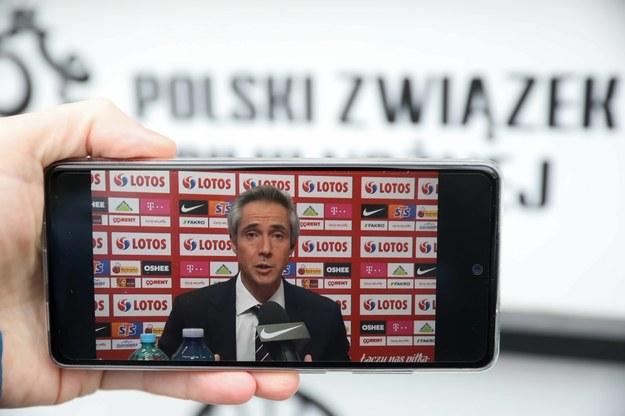 Trener reprezentacji Polski Paulo Sousa /Piotr Nowak /PAP