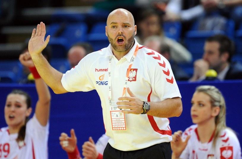 Trener reprezentacji Polski piłkarek ręcznych Kim Rasmussen /AFP