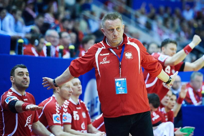 Trener reprezentacji Polski piłkarzy ręcznych Michael Biegler /Fot. Adam Warżawa /PAP