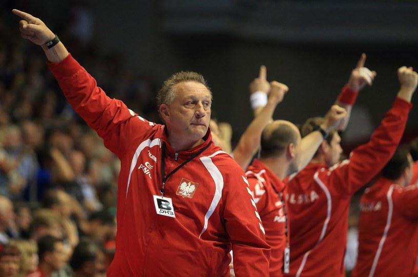 Trener reprezentacji Polski piłkarzy ręcznych Michael Biegler /AFP