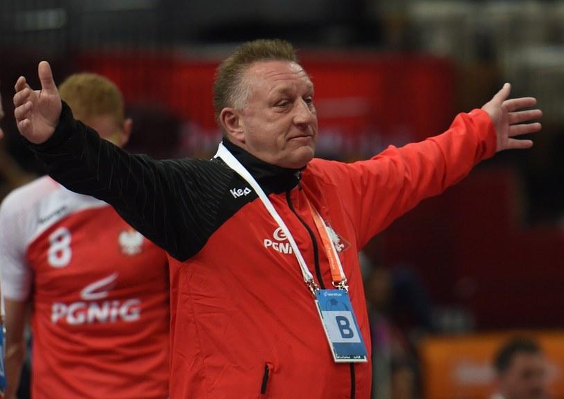 Trener reprezentacji Polski piłkarzy ręcznych Michael Biegler /PAP
