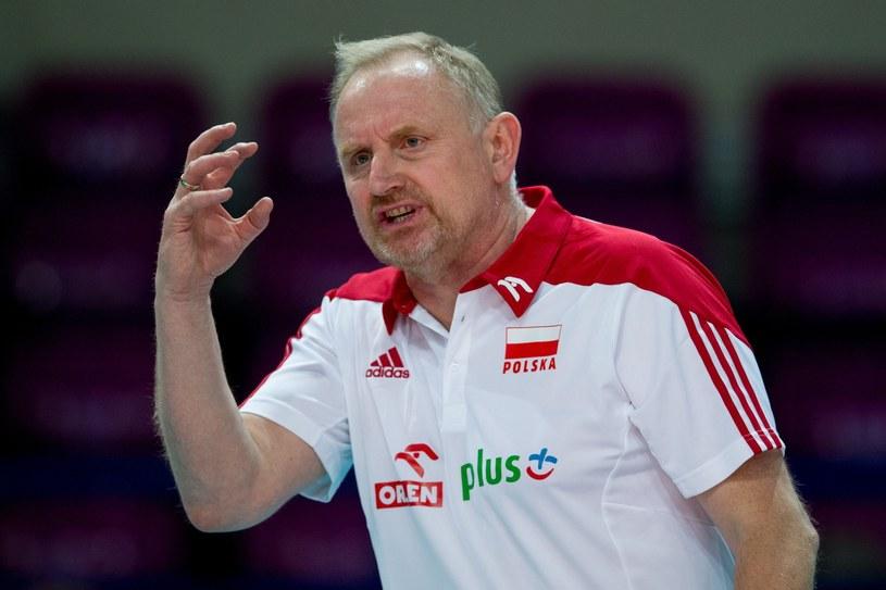 Trener reprezentacji Polski siatkarek Jacek Nawrocki /fot. Andrzej Iwanczuk/REPORTER /East News