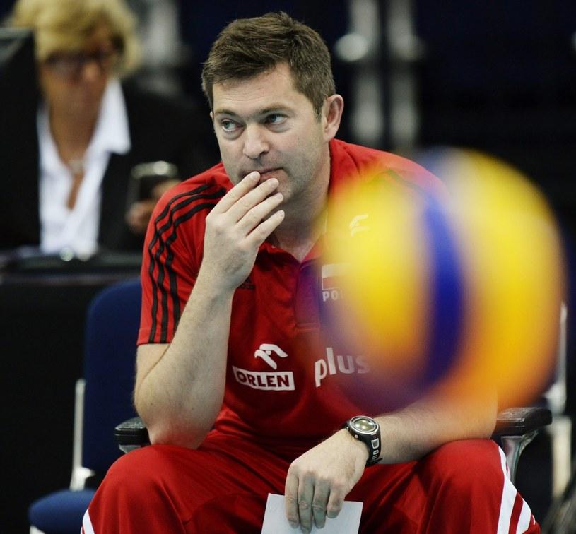 Trener reprezentacji Polski siatkarek Piotr Makowski /PAP/EPA