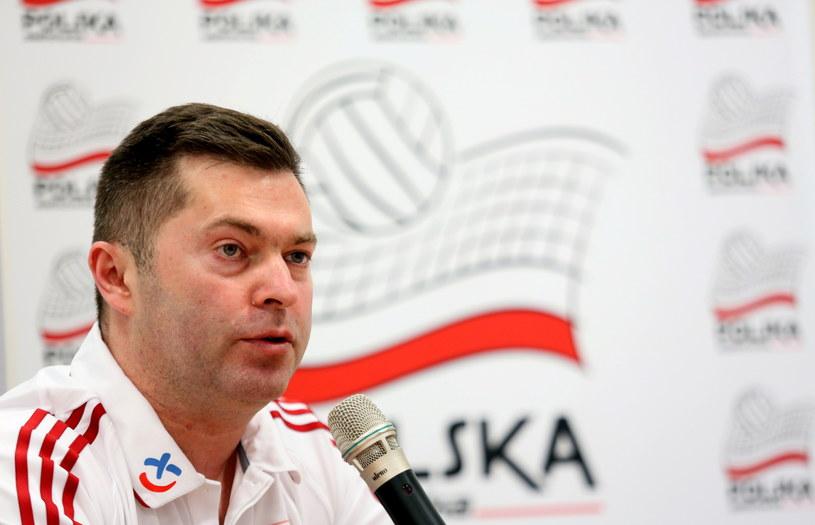 Trener reprezentacji Polski siatkarek Piotr Makowski /Fot. Leszek Szymański /PAP
