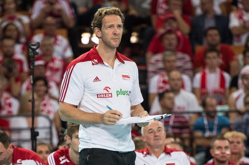 Trener reprezentacji Polski Stephane Antiga podczas meczu z Australią /Maciej Kulczyński /PAP