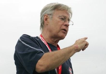 Trener reprezentacji Polski U-20 Michał Globisz Fot. Łukasz Grochala /Agencja Przegląd Sportowy