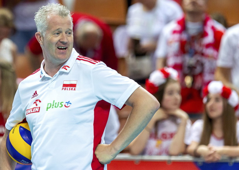 Trener reprezentacji Polski Vital Heynen /Andrzej  Grygiel /PAP