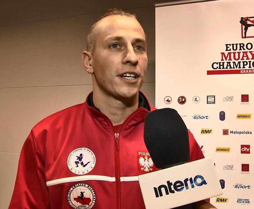 Trener reprezentacji Polski w tajskim boksie - Rafał Simonides /INTERIA.PL