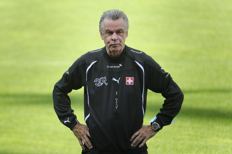 Trener reprezentacji Szwajcarii Ottmar Hitzfeld /AFP