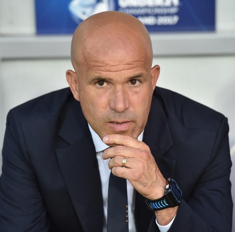 Trener reprezentacji Włoch Luigi di Biagio /Jacek Bednarczyk /PAP