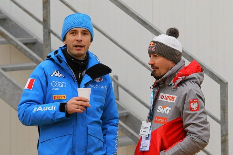 Trener reprezentacji Włoch Łukasz Kruczek doprowadził młodego zawodnika do medalu /fot. Marek Podmokly  /