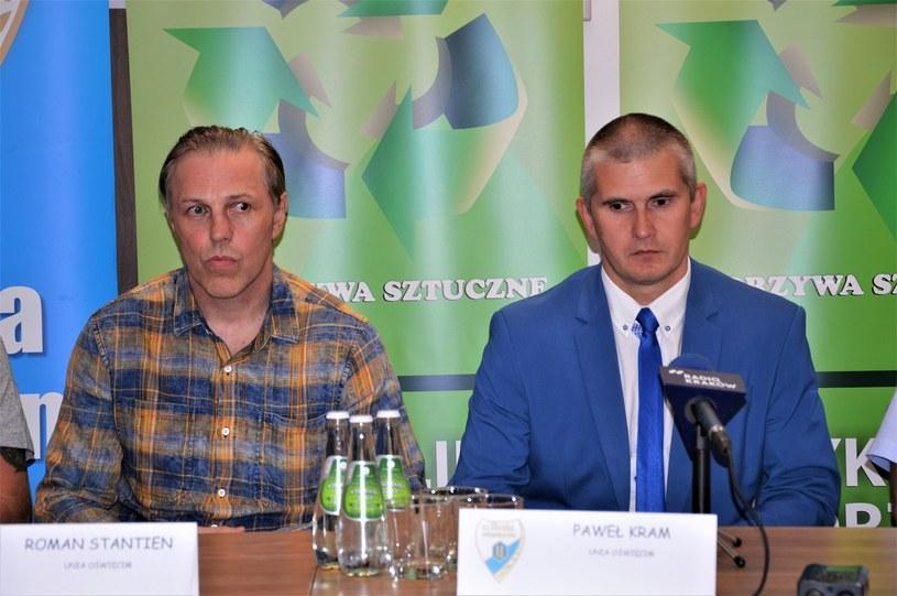 Trener Roman Stantien i prezes Paweł Kram /INTERIA.PL