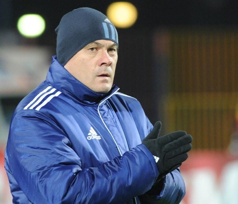 Trener Ruchu Chorzów Jacek Zieliński /Fot. Marcin Bielecki /PAP