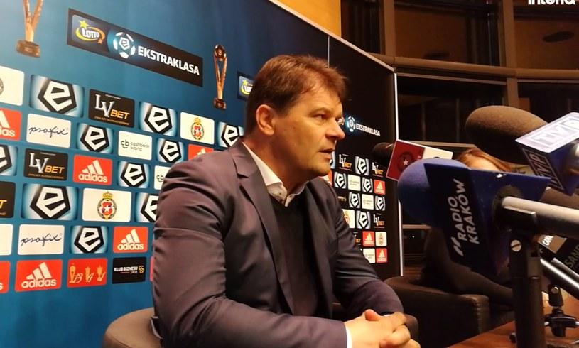 Trener Sandecji Radosław Mroczkowski /INTERIA.PL