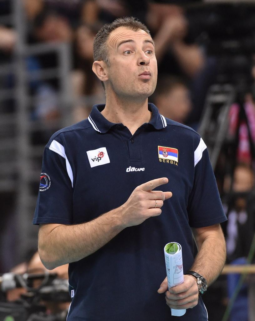 Trener serbskich siatkarzy Nikola Grbić /fot. Jacek Bednarczyk /PAP