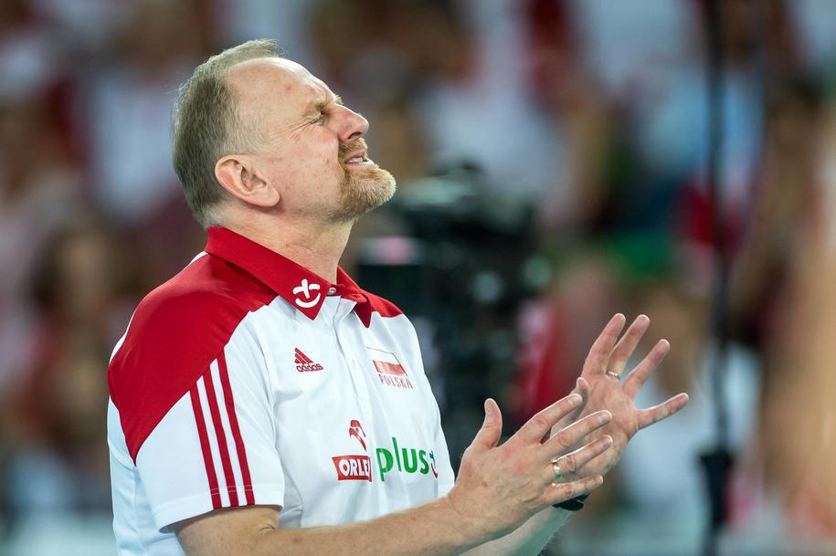 Trener siatkarek reprezentacji Polski Jacek Nawrocki /Tytus Żmijewski /PAP