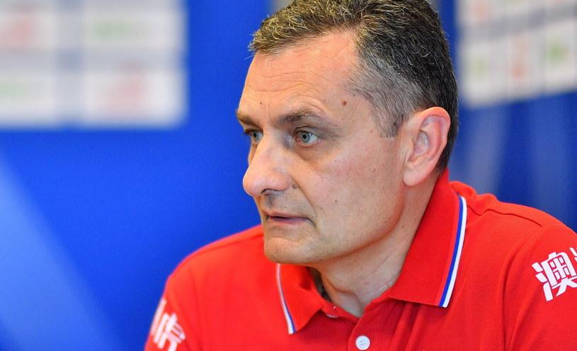 Trener siatkarek reprezentacji Serbii Zoran Terzić /Jan Karwowski /PAP