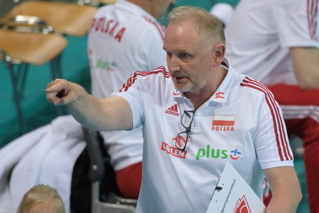 Trener siatkarskiej reprezentacji Polski Jacek Nawrocki /Grzegorz Michałowski /PAP