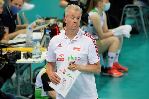 Trener siatkarskiej reprezentacji Polski Vital Heynen /Grzegorz Michałowski /PAP