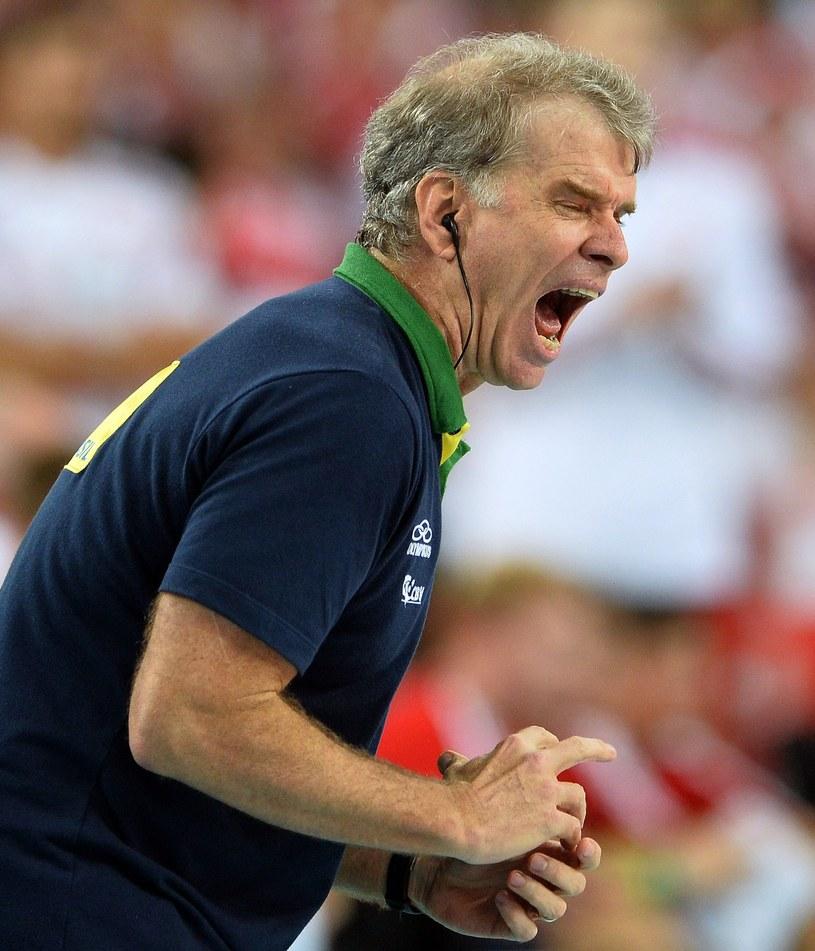 Trener siatkarzy Brazylii Bernardo Rezende /AFP