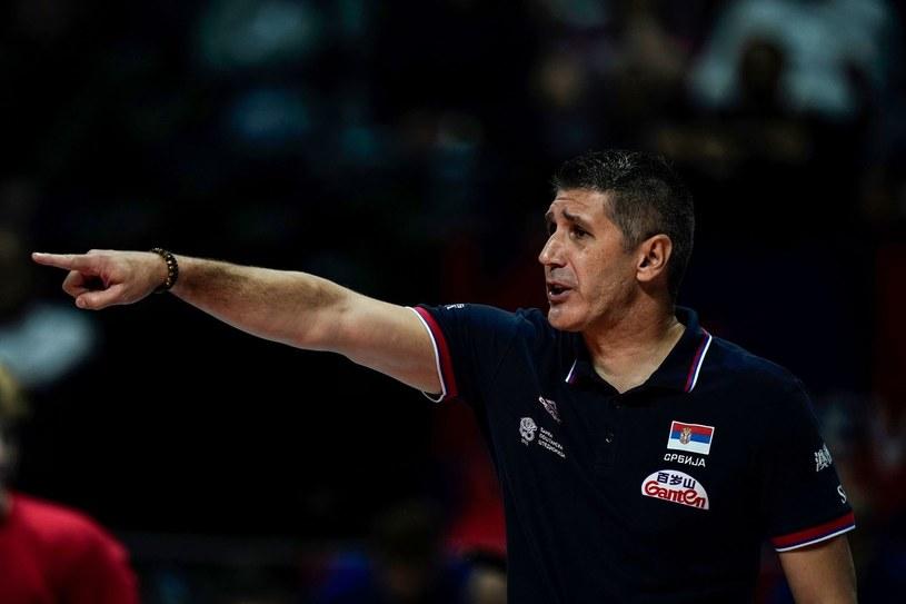 Trener siatkarzy Jastrzębskiego Węgla Slobodan Kovacz /AFP