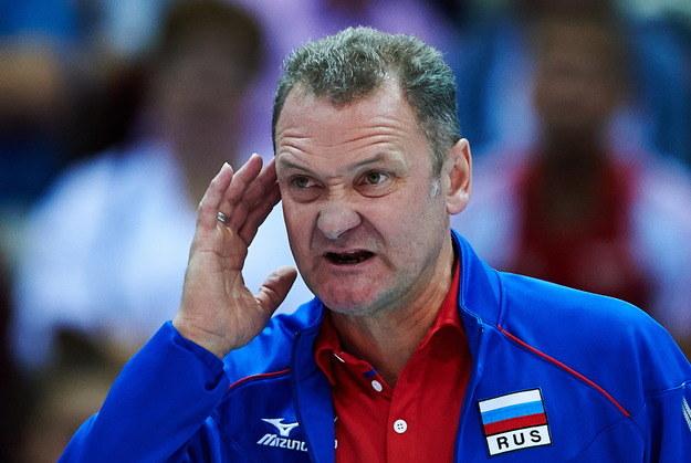 Trener siatkarzy Rosji Andriej Woronkow /Adam Warżawa /PAP