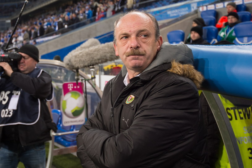 Trener Śląska Wrocław Stanislav Levy /Fot. Jakub Kaczmarczyk /PAP