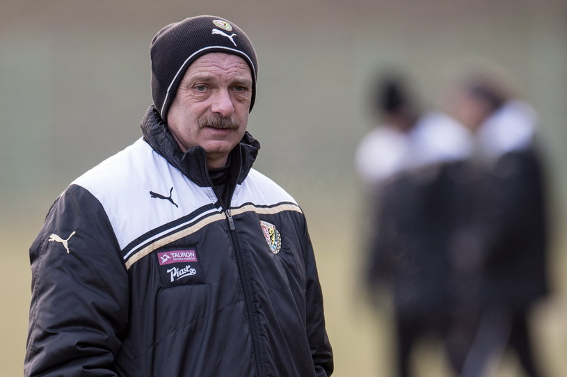 Trener Śląska Wrocław Stanislav Levy /Fot. Maciej Kulczyński /PAP