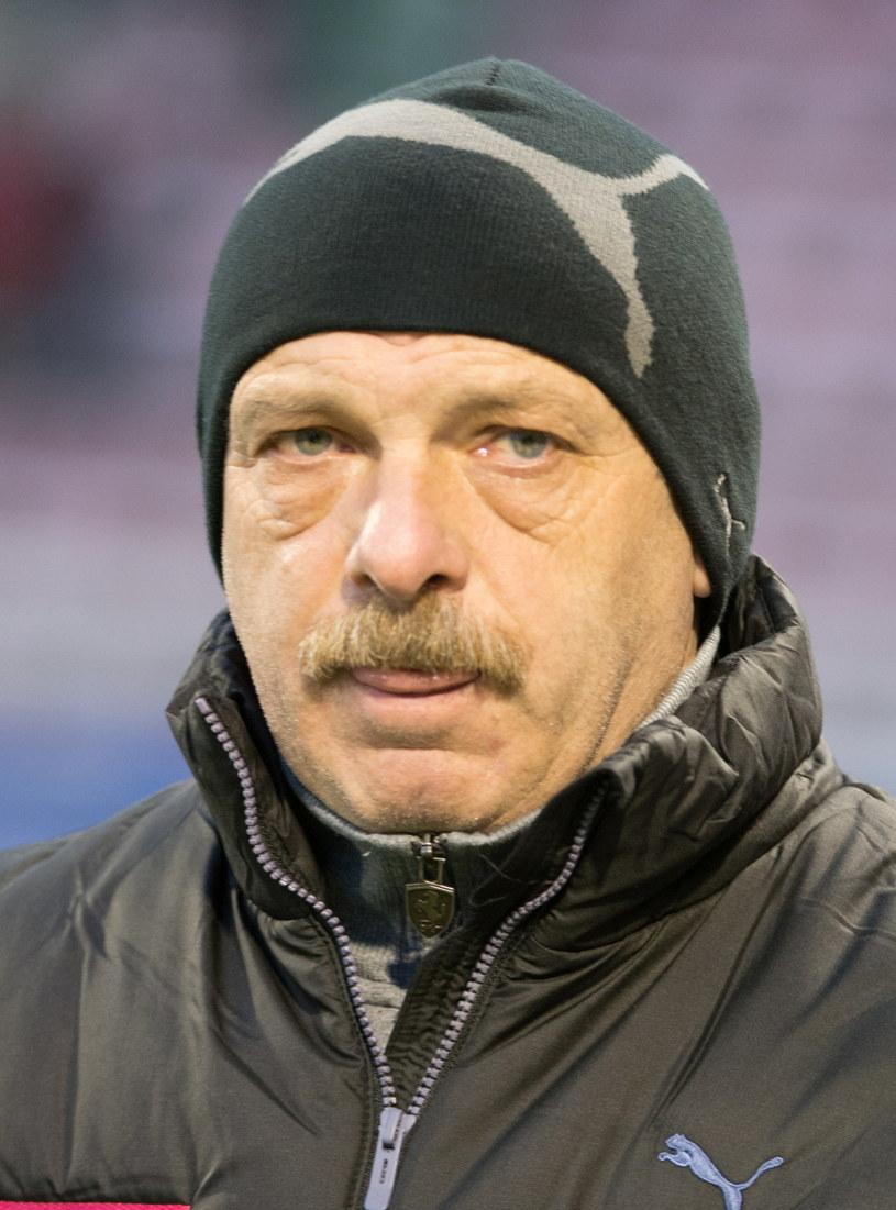 Trener Śląska Wrocław Stanislav Levy /Fot. Grzegorz Michałowski /PAP