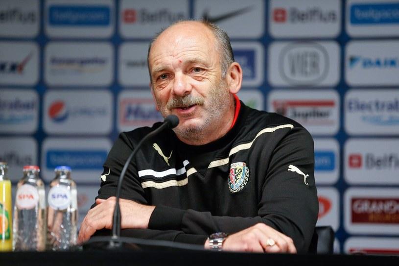 Trener Śląska Wrocław Stanislav Levy /AFP