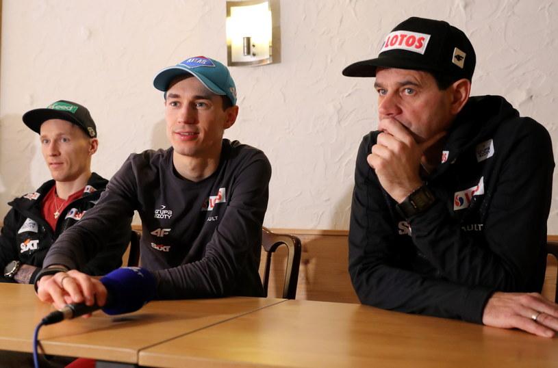 Trener Stefan Horngacher (z prawej) / Grzegorz Momot    /PAP