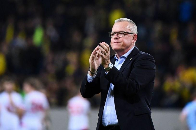 Trener Szwedów Janne Andersson /AFP