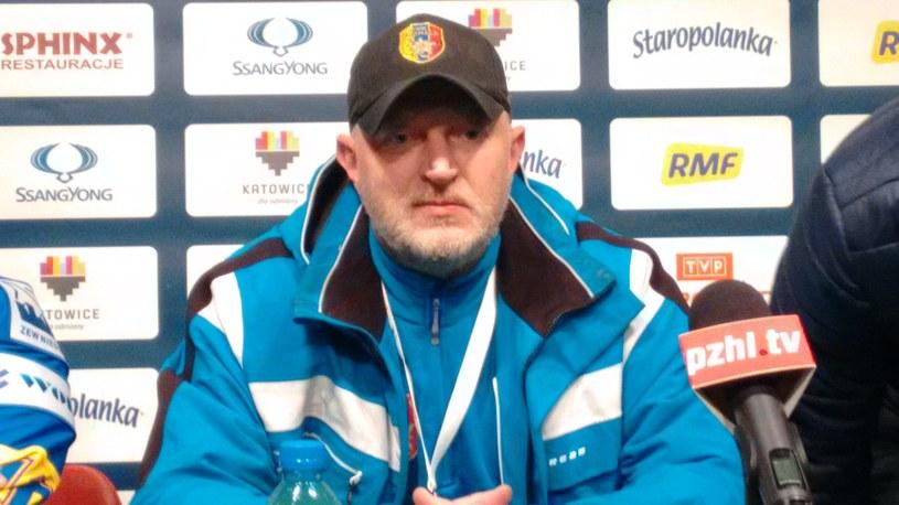 Trener TatrySki Podhala Marek Ziętara. /INTERIA.PL